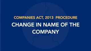 Procedure for Change in Name of the Company