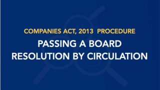 Procedure for Passing a Board Resolution by Circulation