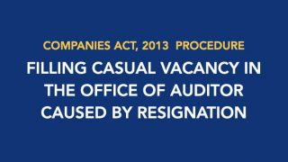 Filling Casual Vacancy in the Office of Auditor Caused by Resignation
