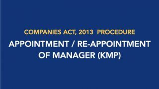 Procedure for Appointment/Re-appointment of Manager (KMP)
