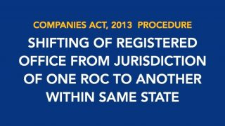 Procedure for Shifting of registered office from one roc to another within same state
