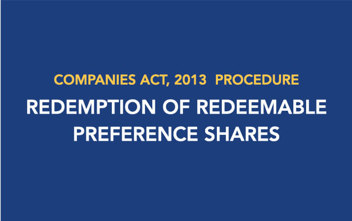 Procedure for Redemption of Redeemable Preference Shares
