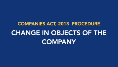 Procedure for Change in Objects of the Company
