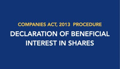 Procedure for Declaration of Beneficial Interest in Shares