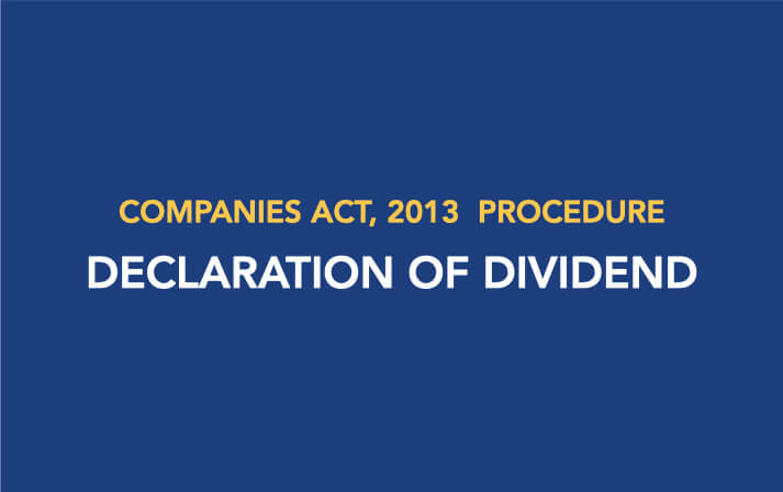 Procedure for Declaration of Dividend