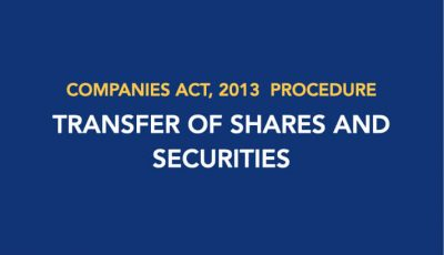 Procedure for Transfer of Shares and Securities