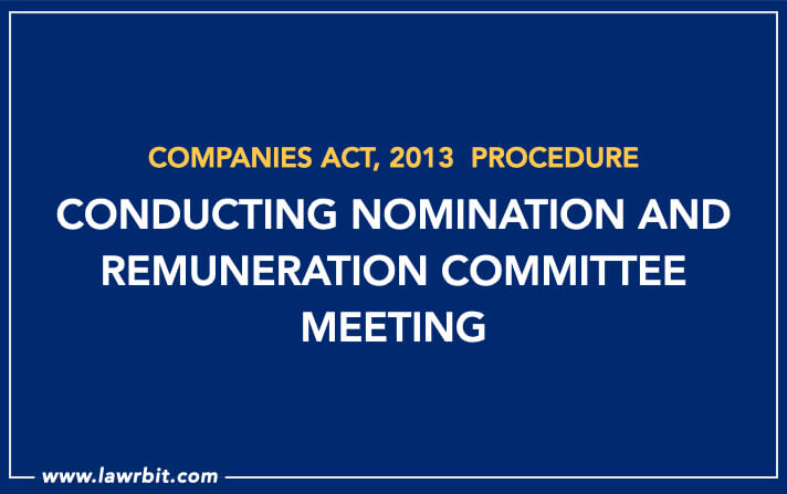 Procedure for Conducting Nomination and Remuneration Committee Meeting