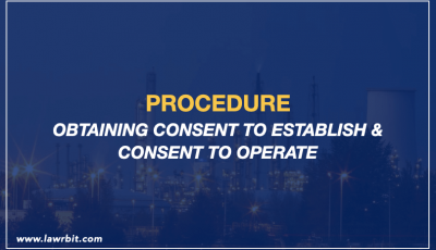 Consent to Establish and Consent to Operate